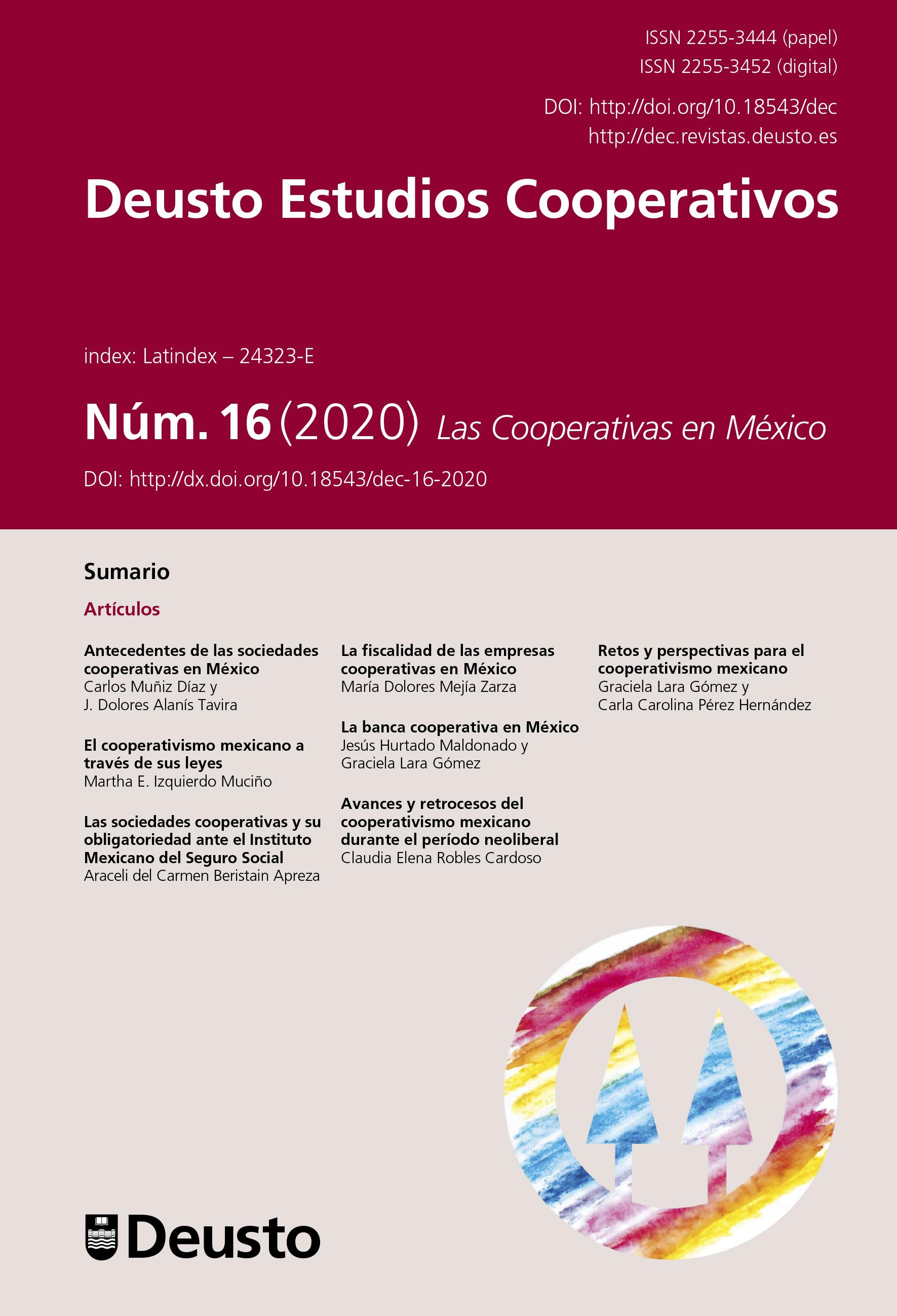 Deusto Estudios Cooperativos Número 16 (2020) Las Cooperativas en México